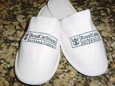 NEW ROYAL CARIBBEAN WHITE TERRY SLIPPERS SZ M UNISEX