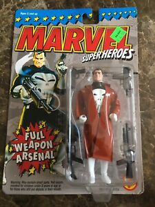 Marvel Super Heroes Full Weapon Arsenal Punisher Action Figure ToyBiz 1994 NIB