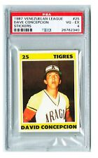 1987 Venezuelan League Sticker DAVE CONCEPCION  # 25