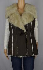 INC International Concepts Womens Night Moss Faux Suede Faux Fur Vest M