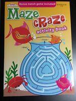 KAPPA MAZE CRAZE ACTIVITY BOOK FOR KIDS BRAND NEW BONUS MATCH GAME INCLUDED!