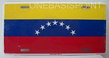 Venezuela Flag License Plate 7 Stars Metal Aluminum Embossed Sign Car Tag Auto