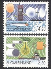 Finland 1994 Europa/Ship/Radio/Telephone/Balloon/Crops/Inventions 2v set n39076