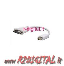 CONVERTIDOR ADAPTADOR MINI DVI / VGA 15 pines HEMBRA M/H MONITOR APPLE MAC