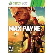Max Payne 3 (Microsoft Xbox 360, 2012) -Complete