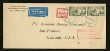 NEW ZEALAND SAMOAN CLIPPER 1937 FIRST FLIGHT CALIFORNIA
