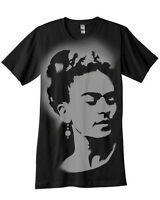 Frida Kahlo T-shirt hand Airbrushed with stencils