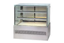 NEW CAKE DISPLAY FRIDGE DELI MEAT CHEESE SQUARE SHAPE GLASS 1200X1200X700mmWHD