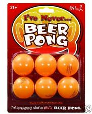 Beer Pong Balls plus I've Never Drinking Party Naughty Adult Confession Game