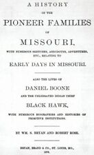 1876 Genealogy History Pioneer Families of Missouri MO