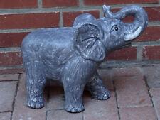Steinfigur Elefanten Elefant anthrazit  mittel