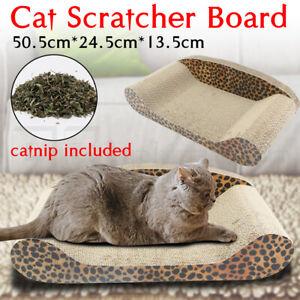 Cat Scratcher Scratching Board Corrugated Cardboard Scratch Bed Toy Mat Sofa