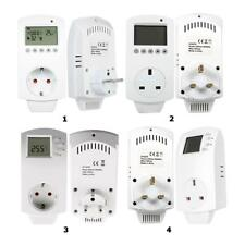 Digital Plug Heating Programmable LCD Display Thermostat Temperature Controller