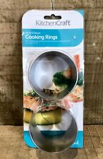 """KitchenCraft Set Of 2 Deluxe Cooking Rings Stainless Steel 7cm x 6cm 3"""" x 2"""""""