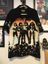 More details for kiss love gun shirt size m official kiss catalog 2002 buttons embroidered unworn