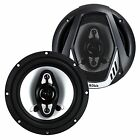 "2) NEW BOSS NX654 6.5"" 400W 4-Way Car Audio Coaxial Speakers Stereo Black 4 Ohm"