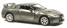 2009 Nissan GT-R R35 grau metallic ca.1:36 / 12,5 cm Modellauto Neuware KINSMART