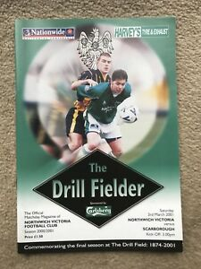 Northwich Victoria v Scarborough - Nationwide Conference 2000/01 Programme