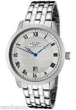 Rotary Men's Timepieces Classic Silver Stainless Steel Bracelet Watch GB42825/01