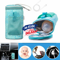 Baby Bottle Warmer Heater Portable Milk Feeding USB Bag Thermostat Travel Pouch