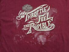 Harley Davidson Feel The Rumble Dark Red Shirt Nwt Men's large