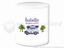 Personalised Gift Ice Cream Van Money Box Cone Scoop Driver Vendor Present #1