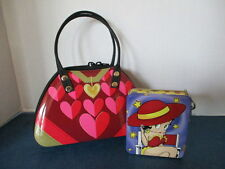 2 TINS, A HEART PURSE, THE SILVER CRANE COMPANY LTD & BETTY BOOP TIN w/ KEY RING
