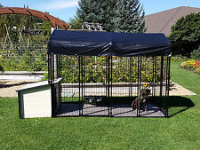 Ultimate K9 Condo Package Dog House + Kennel-Run + Raised Floor + Swivel Bowls