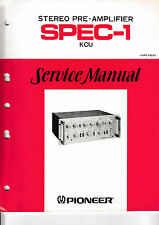 Service Manual-Instructions pour pioneer spec - 1