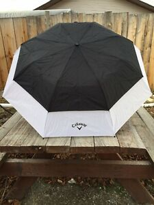 "Callaway Golf 36"" Double Canopy Umbrella - Black/White"