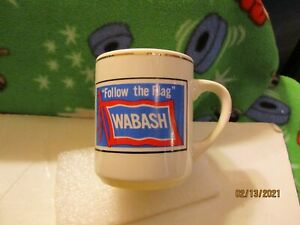 Reproduction Follow the Flag Wabash Railroad Coffee Cup