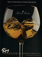 1981 Large ice glass Remy Martin Champagne Cognac vintage photo print ad ads56