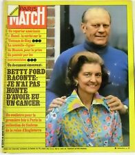 Paris Match No. 1359 - 14 june 1975 - Betty Ford Cancer england stamps