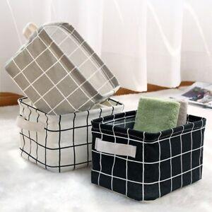 Storage Basket Neu Leinen Kleinigkeiten Aufbewahrungsbox Wasserdichte Baumwolle