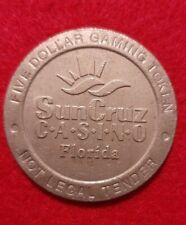 $5.00 Dollar Slot Machine Gaming Token Coin SunCruz Casino Canaveral Florida USA