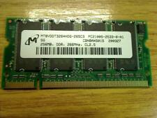 256MB DDR 266MHz CL2.5 MT8VDDT3264HDG-265C3 Acer Travelmate 243LC MS2138 240 250