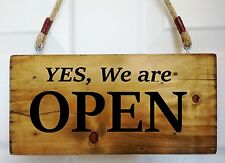 Open Closed Sign Window Door Shop Restaurant Cafe Bar Hanging Time Reversible