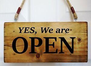 Open Closed Sign Window Door Shop Restaurant Cafe Bar Hanging Time Reversible.