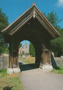 Buckinghamshire Postcard - The Lych Gate, St Giles Church, Stoke Poges RR8959