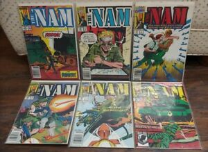 The Nam Lot Of 6 #39 46-49 70 Lomax Vansant Vietnam War Marvel Comics 1992 B&B