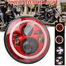 7-Zoll Rot LED Projektor Hi/Lo Beam Scheinwerfer für Harley Jeep