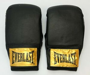 Everlast Training Boxing Gloves Size Small/Medium Black w/ Gold Label NWOT