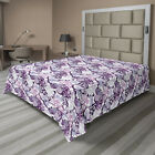 Ambesonne Butterfly Print Flat Sheet Top Sheet Decorative Bedding 6 Sizes