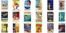 More details for retro vintage aviation posters a4 size - qantas, twa, aer lingus, alitalia, klm