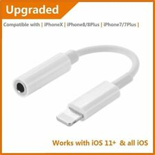 For iPhone X 8 Lightning To 3.5mm Earphone Headphone Jack Aux Adapter Cable US