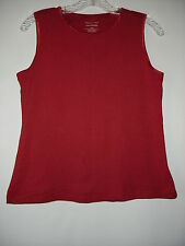 Christopher Banks Layer Your Look Dark Red 100%Cotton Sleeveless Top PM