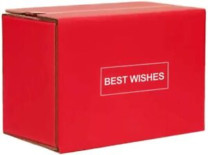 10Pcs Red Corrugated Mailer Shipping Box Zipper Box  Gift Mailing Boxes for Xmas