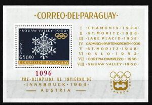 Paraguay - Zusammenarbeit im Sport Block 38 postfrisch 1963 Mi. 1199