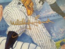 "1990 Gartlan Collector's Plate ""World Series Wind-up"" Whitey Ford Signed-Yankees"
