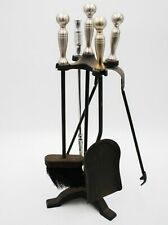 Fireplace Companion Tool Set Brush, Scoop, Poker, Tongs :T130